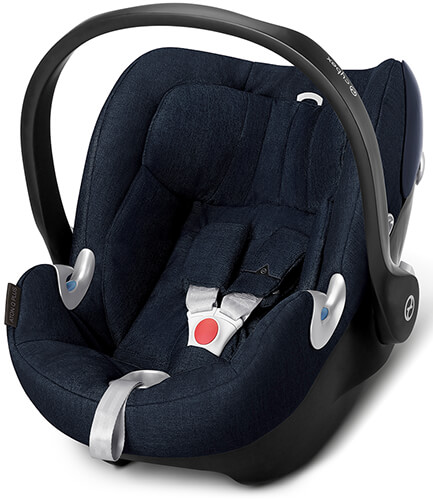 Автокресло Cybex Aton Q Plus Platinum, цвет Midnight Blue