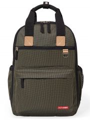 Рюкзак Skip hop Duo signature, цвет Olive Mini Grid