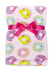 Плед Baby Gear Plush, цвет Pink Colorful