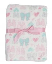 Плед Baby Gear Plush, цвет Bows