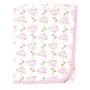 Плед Touched by Nature Organic Cotton, цвет Pink Flower