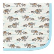 Плед Touched by Nature Organic Cotton, цвет Blue/Elephants