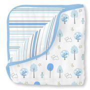 Двусторонний плед SwaddleDesigns Luxe Muslin, цвет Blue Forest