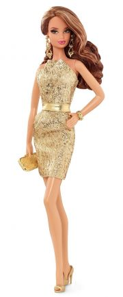 Кукла Barbie Gold Dress CFP36