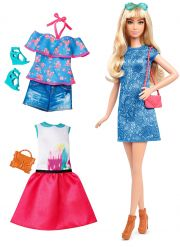 Кукла Barbie Fashionista Blonde, цвет Blue Print