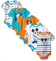 Боди Disney Mickey Mouse (5 шт), цвет Multi/Orange