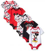 Боди Disney Mickey Mouse (5 шт), цвет Multi/Black