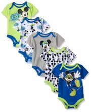Боди Disney Mickey Mouse (5 шт), цвет multi/blue