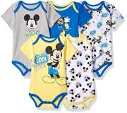 Боди Disney Mickey Mouse (5 шт), цвет Multi/Grey Heather