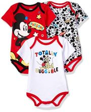 Боди Disney Mickey Mouse (3 шт), цвет Multi/Red