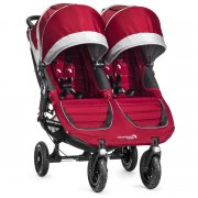 Коляска для двойни и погодок Baby Jogger City Mini Double GT, цвет Crimson/Gray