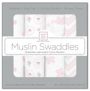 Комплект пеленок SwaddleDesigns Muslin 4 шт, цвет Butterfly Fun