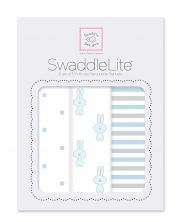 Комплект пеленок SwaddleDesigns Lite 3 шт, цвет Pastel Blue