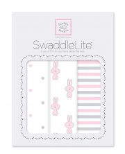 Комплект пеленок SwaddleDesigns Lite 3 шт, цвет Pastel Pink