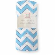 Пеленка SwaddleDesigns Marquisette Chevron, цвет Blue