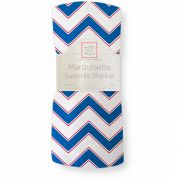 Пеленка SwaddleDesigns Marquisette Chevron, цвет Light True Blue