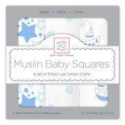 Комплект пеленок SwaddleDesigns Muslin 3 шт, цвет Little Ships