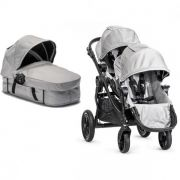 Коляска для двойни Baby Jogger City Select Tandem, цвет Silver gray