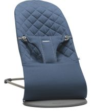 Шезлонг BabyBjorn Balance Bliss Cotton, цвет Midnight Blue