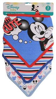Нагрудники Disney Mickey Bandana 3 шт, цвет Blue Mickey I'm Cute Print