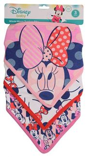 Нагрудники Disney Minnie Bandana 3 шт. Pink Minnie