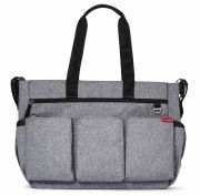 Сумка для мамы Skip hop Double Signature, цвет Heather Grey