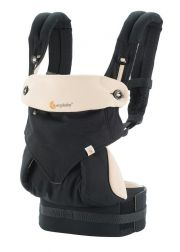Рюкзак переноска ErgoBaby Four Position 360, цвет Black/Camel
