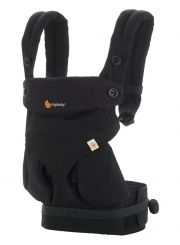 Рюкзак переноска ErgoBaby Four Position 360, цвет Pure Black