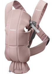 Рюкзак-кенгуру BabyBjorn Mini Cotton, цвет Dusty Pink