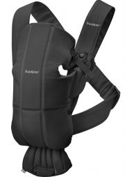 Рюкзак-кенгуру BabyBjorn Mini Cotton, цвет Black