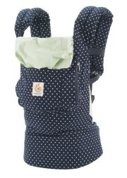 Рюкзак переноска ErgoBaby Carrier Original, цвет Indigo Mint Dots